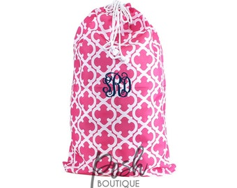 Monogram Laundry Bag, Personalized Laundry Bag, College Student Laundry Bag, Gifts Under 20