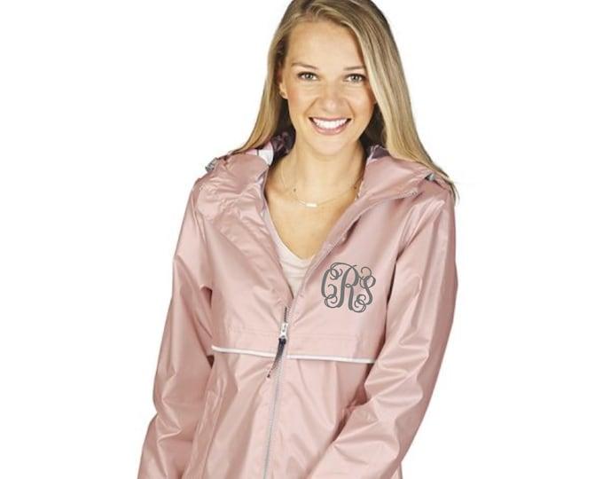 Monogrammed Rain Jacket, Rose Gold New Englander Rain Jacket, New Colors, Charles River Rain Jacket