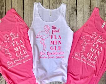 Bachelorette Tank Top, Bachelorette Shirt, Bachelorette Party Tank Tops, Final Flamingle, Bridesmaid gifts