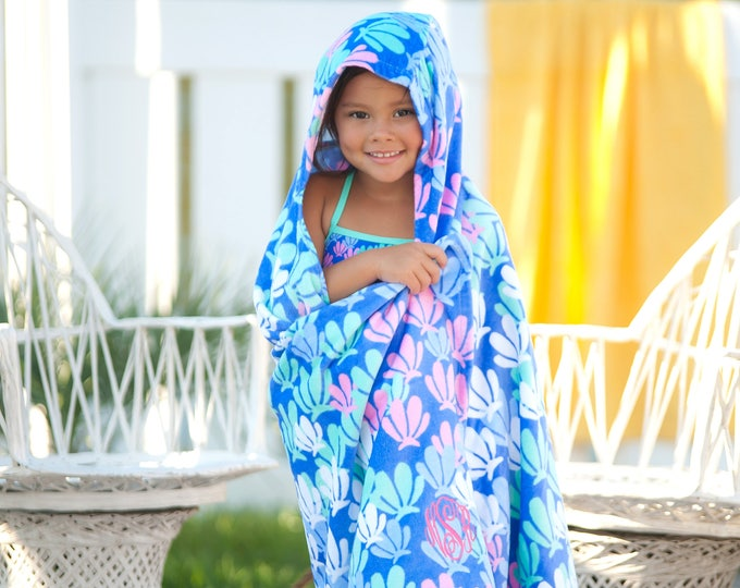 Sale! Monogrammed Hooded Beach Towel, Kids Beach Towel, Monogrammed gifts