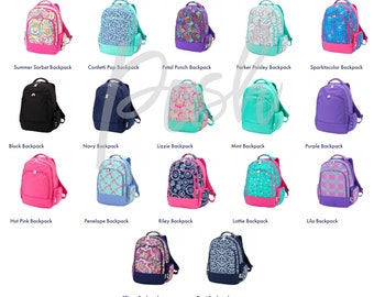 Monogrammed Backpacks, Girls and Boys Backpacks, Personalized Backpacks for Kids, Childrens Backpacks