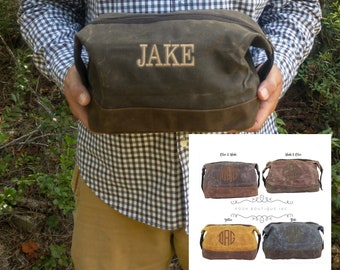 Monogrammed Dopp Kit, Personalized Groomsmen Gifts, Toiletry Bag, Dopp Kit, Group Order Discounts, Gift for Groomsmen