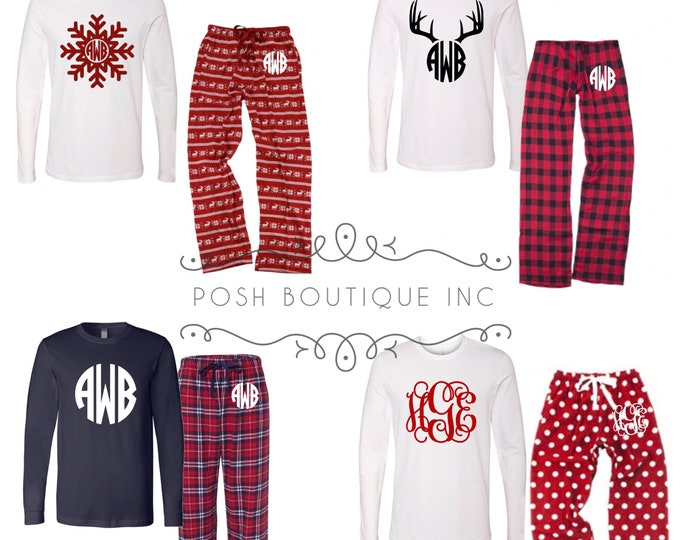 Family Pajama Set, Christmas Pajama Set, Monogrammed Pajama Set, Family Pajamas, Christmas Pajamas, Free Shipping