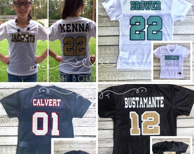 Custom Football Jersey, Girls Football Jersey, Ladies Football Jersey, Boys Football Jersey, Game Day Jersey, Football Mom, Cheer Mom
