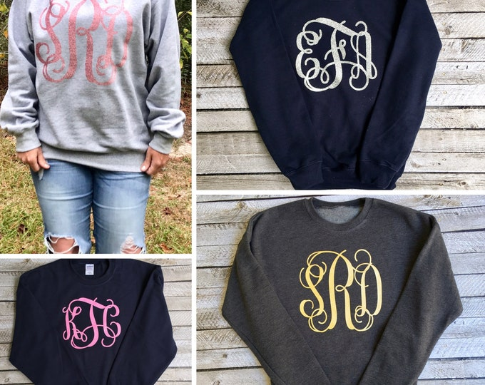 Monogrammed Sweatshirts, Monogram Sweatshirt, Monogram Gifts for Her, Gifts Under 20, Mother Daughter Sweatshirts