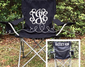 Monogrammed Chairs, Personalized Folding Chair, Custom Camp Chair, Coach's Gifts, Groomsmen Gifts