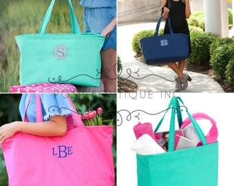 Monogrammed Ultimate Tote, Monogram Jumbo Tote Bag, Beach Bag, Teachers Bag, Ultimate Tote, All Purpose Tote Bag