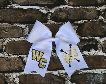 Cheer Bows, Hair Bows, Monogram Majorette Cheer Bow, Cheer Bows, Twirler Hair Bow, Dancer Hair Bow, Team Discounts Available