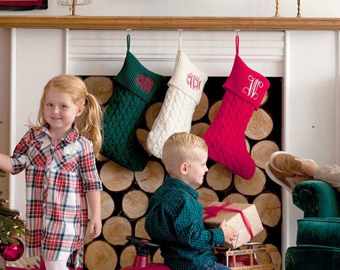 Monogrammed Christmas Stockings, Knit Christmas Stockings, Family Christmas Stockings, Girls Christmas Stockings, Boy Christmas Stockings