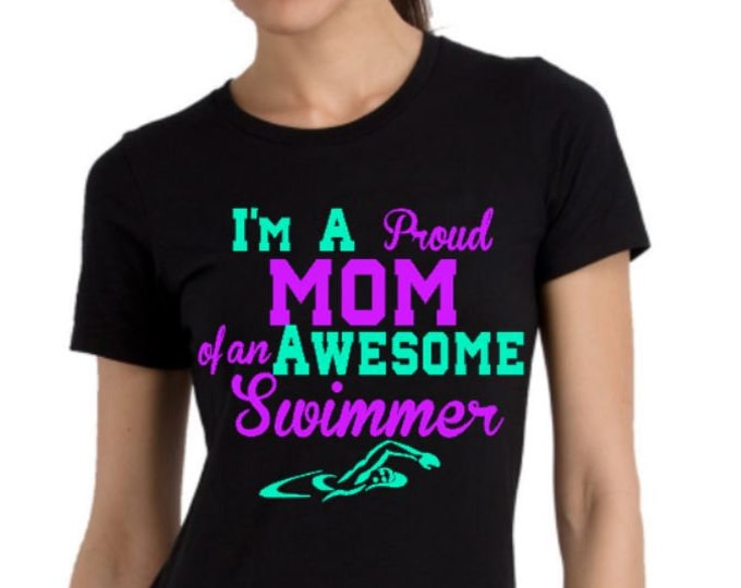 Swim Mom Shirt, Custom Swim Mom Shirts, Swim Team Shirts, Group Discounts, Custom Swim team shirts