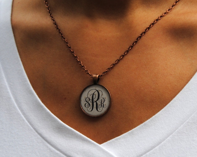 Monogram necklace, Bridesmaid gift, Monogrammed Gifts, Christmas gift, Personalized Necklace, Gifts for her