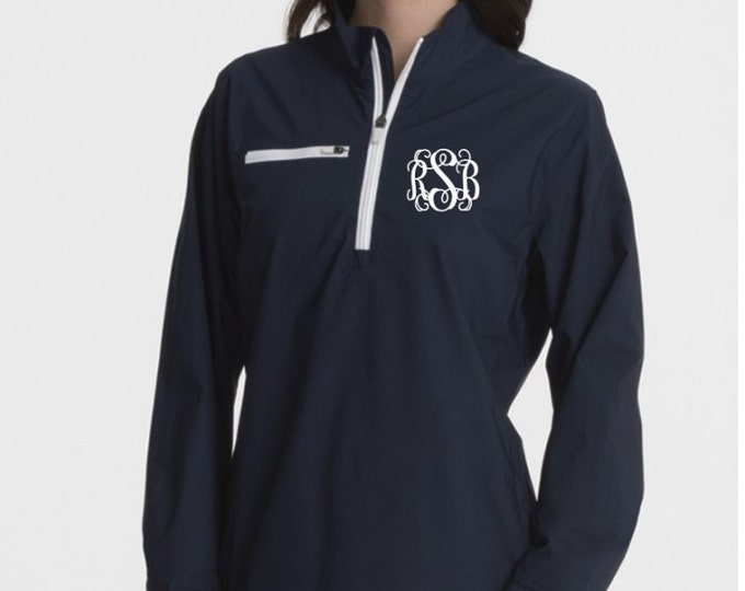 Monogrammed Pullover, Charles River Pullover, Monogrammed Gifts, High end outerwear, Lightweight Monogrammed Pullover, Monogram Jacket