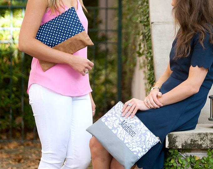Monogrammed Cosmetic Bag, Toiletry Bag, Bridesmaid Gifts, Group Discounts, Monogram Gifts, Makeup Bag, Women's makeup bag