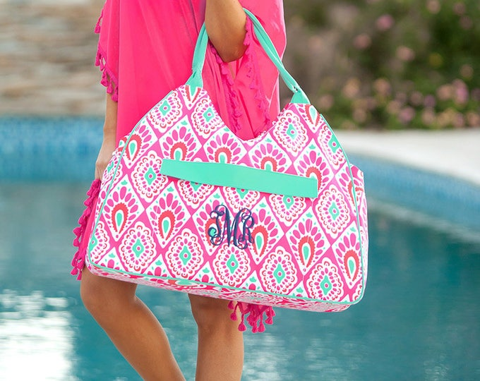 Beachy Keen Collection, Monogrammed Travel Set, Backpack, Duffle Bag, Lunchbox, Cosmetic Bag, Wristlet, Tote Bag, Beach Towel, Beach Bag
