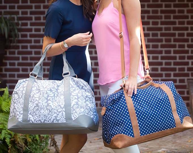 Monogrammed Weekender Bag, Monogrammed Duffle Bags, Personalized Overnight Bag, Weekender Bag, Honeymoon Bag, Bridal Shower Gift