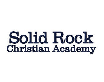 Solid Rock Christian Academy Embroidery