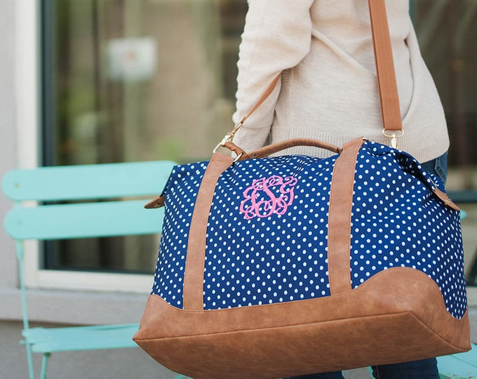Monogrammed Weekender Bag, Monogrammed Duffle Bags, Overnight Bag, Honeymoon Bag, Bridal Shower Gift, Gifts for her, Christmas gifts