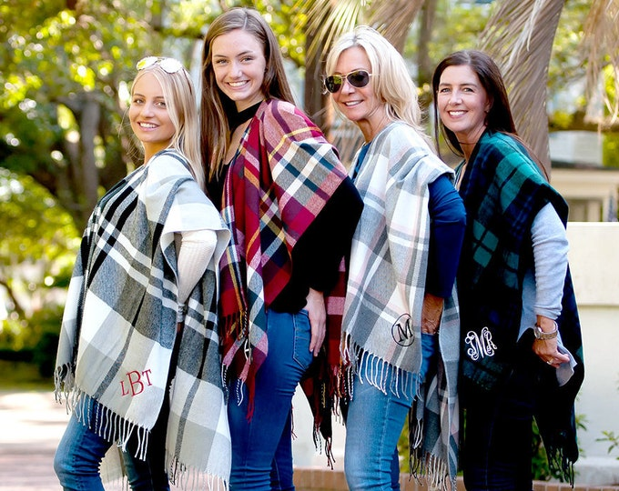 Monogrammed Shawl, Kennedy Shawl, Gifts for Her, Bridesmaid Gifts, Bridesmaid Gift, Christmas Gifts, Group Discounts