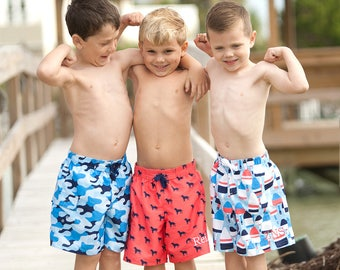 Boys Swim Trunks, Monogram Swim Trunks, Boys Monogrammed Swim Trunks, Boys Personalized Swimsuits, Swimsuit Sale