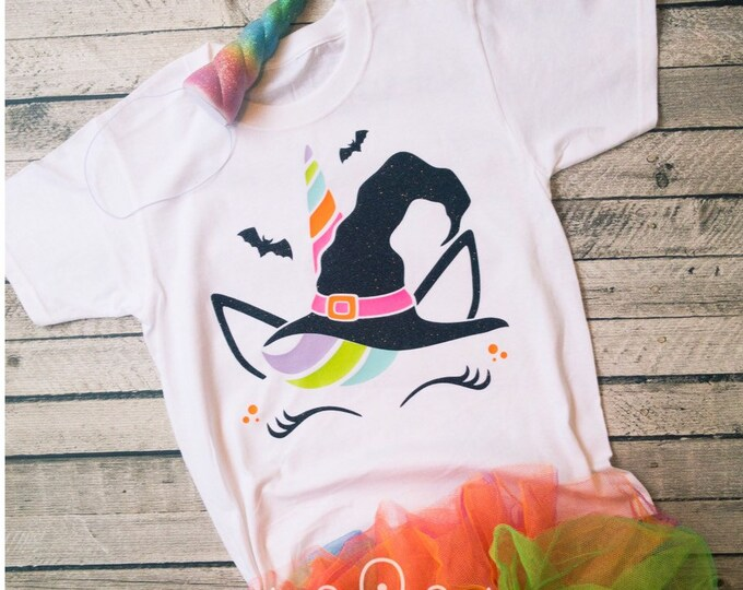 Unicorn Shirt, Halloween Unicorn Shirt, Unicorn Tee Shirt, Witch Unicorn Shirt, Fall Unicorn Shirt