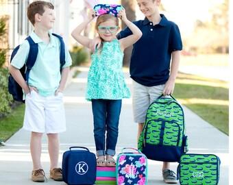 Girls Monogrammed Backpack, Boys Personalized Backpacks, Book bag, Back to School, Preppy Backpack, School Supplies, New Prints 2018