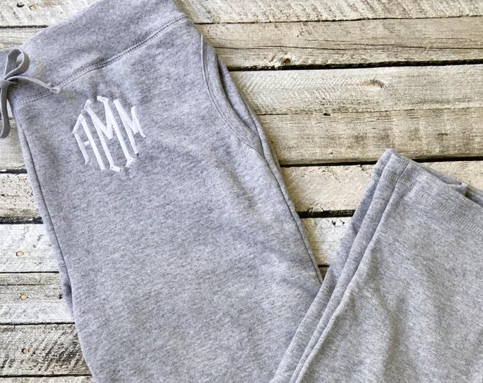 Monogrammed Sweatpants, Monogram Fleece Sweatpants, Ladies Sweatpants, Bridesmaid Gifts, Group Discounts, Bridal Party Sweatpants