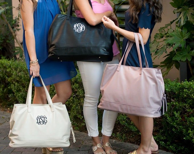 Monogrammed Weekender Bag, Cambridge Travel Bag, Monogrammed Weekend Bag, Bridesmaid Gifts, Christmas Gifts, Gifts for Her