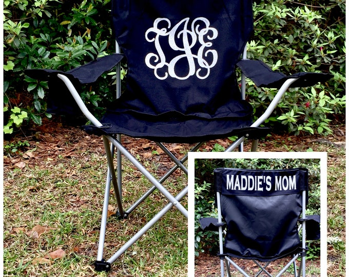 Custom Folding Chair, Monogrammed Chair, Camp Chair, Groomsman gifts, Wedding gifts, Coaches chair, Game Day Chairs