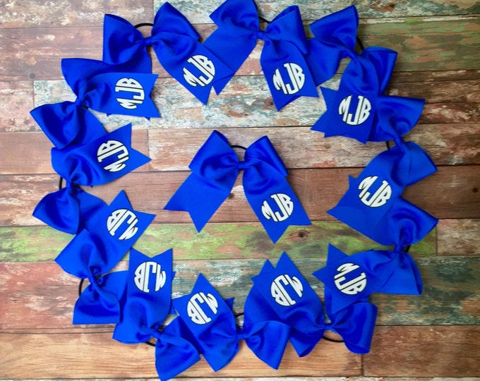 Monogram Cheer Bow, Monogrammed Gifts, Custom Cheer bows, Glitter Cheer Bow, Monogrammed Cheer Bows, Monogram Hair Bow