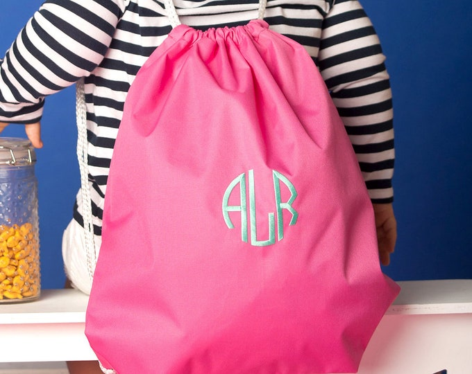 Monogrammed Gym Bag, Dance Bag, Kids Backpacks, Personalized Gym Bags, Monogrammed Book bag