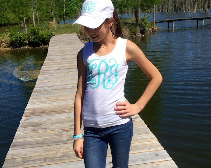 Monogrammed Tank Tops for Girls, Monogram Tank Top, Group Order Discounts, Personalized Tanks for Dance Teams, Cheer Tanks