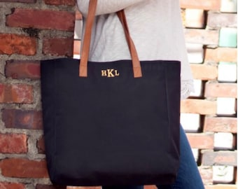 Monogrammed Tote Bag, Monogram Tote Bag, Monogrammed Gift, Bridesmaid Gifts, Team Gifts, Group Discounts, Christmas Gifts Under 20