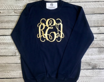 Monogram Sweatshirt, Monogrammed Sweatshirt, Monogrammed Gifts, Crewneck Sweatshirt, Christmas Gifts for her, Mother Daughter Sweatshirts