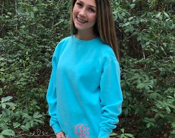 Monogrammed Sweatshirt - Monogram Sweatshirt - Monogrammed Shirt - Monogram Fleece Sweatshirt- Mother Daughter Sweatshirts - Gifts for Her