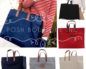Monogrammed Tote Bag, Canvas Tote, Advantage Tote Bag, Monogrammed Gifts, Bridesmaid gifts, Personalized Totes, Oversized Tote Bag