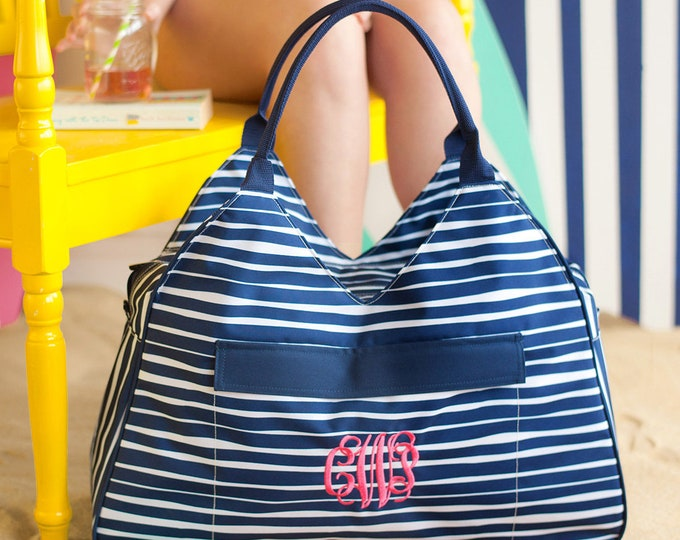 Monogrammed Beach Bag, Personalized Beach Bag, Bridesmaid Gifts, Bridesmaid Bags, Bachelorette Party, Personalized Beach Bag