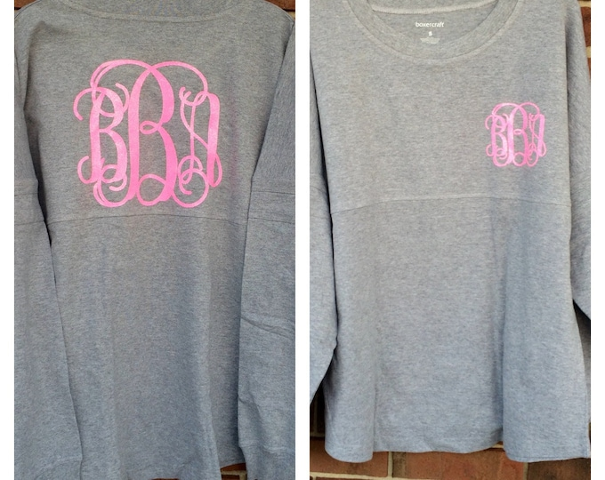 Monogrammed Pullover, Pom Pom Pullover, Monogrammed Jersey, Personalized Team Shirts, Group Discounts, Monogram Sweatshirt