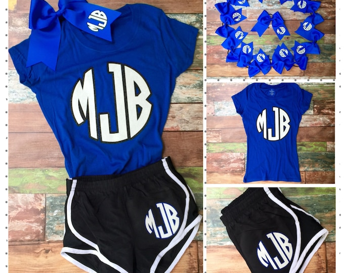 Cheer Team Set, Cheer Shorts, Cheer Bow, Cheer Shirt, Team Order Discounts, Girl's and Women's Sizes