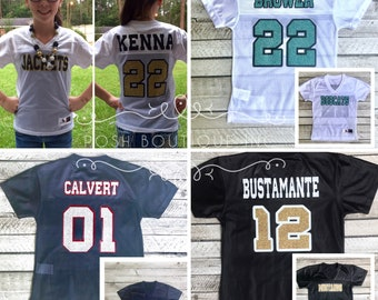 Custom Football Jersey, Football Mom Shirt, Cheer Mom Shirt, Jersey, Game Day Jersey, Football Jersey, Cheerleader Jersey, Team Spirit Shirt