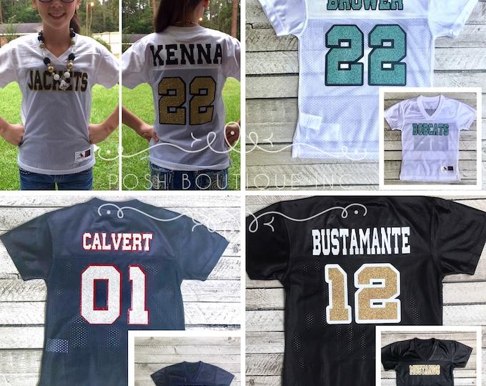 Custom Football Jersey, Football Mom Shirt, Cheer Mom Shirt, Jersey, Game Day Jersey, Football Jersey, Cheerleader Jersey, Team Spirit Shirt