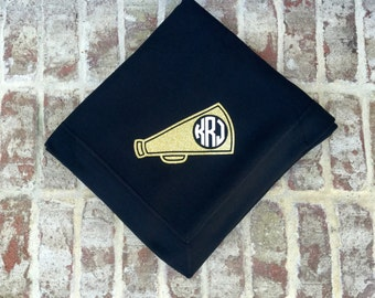 Monogrammed Throw blanket, Monogrammed blanket, Monogrammed gifts for Cheerleaders, Stadium Blanket, Cheer team gifts