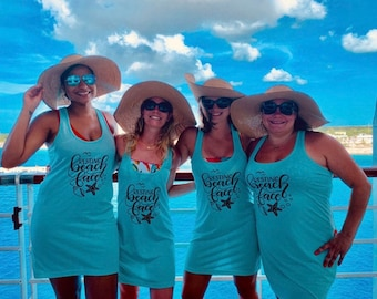 Swimsuit Coverup, Bachelorette Tank Dress, Bridesmaid Swim Cover Ups, Bridesmaid Gifts, Girls trip Coverups