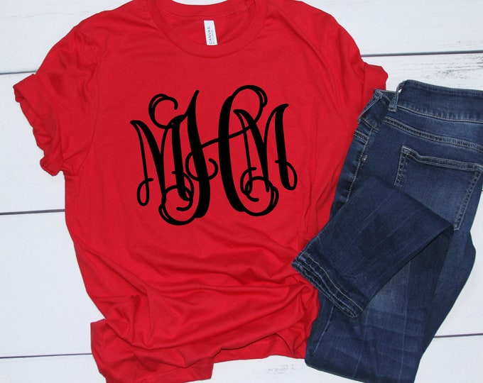 Sale! Monogrammed Shirts, Monogram Shirts for Ladies and Girls, Personalized Shirts, Group Discounts