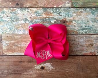 Monogram Hair Bow, Custom Hair Bow, Girls hair bow, Boutique hair bow, Monogrammed gifts
