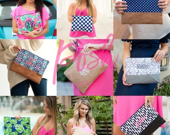 Monogrammed Cosmetic Bag, Monogrammed Gifts, Monogrammed Bridesmaid Gifts, Makeup Bag, Toiletry Bag, New Prints, Group Discounts