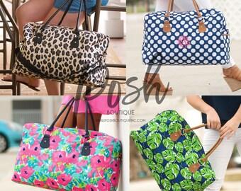 Weekender Bag, Monogrammed Travel Bag, Custom Weekender Bag, Duffle Bag, Graduation Gifts, Travel Set, Gifts for Her