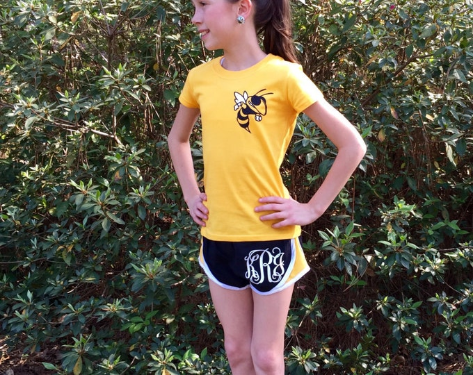 Custom Cheer Set, Shorts, Tee Shirt, Cheer Bow, Team Discounts,  Monogram shorts, Cheer shirt, Monogram cheer bow