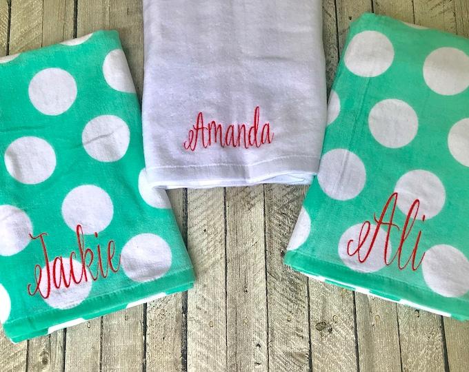 Monogrammed Beach Towel, Monogram Beach Towels, Monogram Bridesmaid Gifts, Monogrammed Beach Towels, Corporate Gifts, Custom Beach Towels