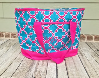 Monogrammed Cooler Tote, Cooler Bag, Monogram Cooler Bag, Lunch Box, Insulated Cooler Tote Bag, Back To School