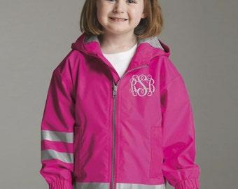 Toddler Monogram Rain Jacket - Monogrammed gifts - Little Girls Monogram Rain Jacket - Toddler New Englander Jacket